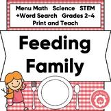 Menu Math: Feeding My Family STEM