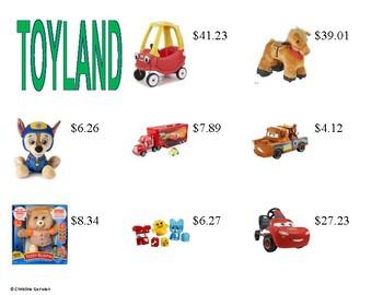 Menu Math- Toyland