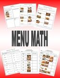 Menu Math Workbook: Taco Restaurant  (special ed. life skills)