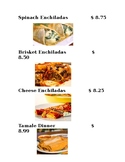 Menu (Mexican food) VI friendly