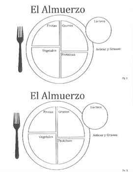 Menú Nutritivo - Comida Mini Book (menu)