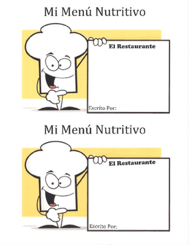 Menú Nutritivo - Comida Mini Book (menu)