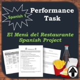 Performance Task Spanish Menu Project Spanish Food Comida