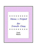Menu * Project For French Class