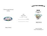 Menu Style Book Report Template