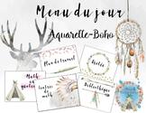 Menu du jour: Aquarelle Boho