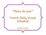 """Menu du jour"" - French Daily Visual Schedule"
