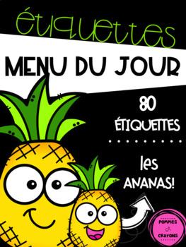 Menu du jour - Les ananas {fond noir}