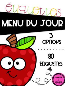 Menu du jour - Les pommes