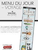 Menu du jour - Voyage