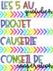 Menu du jour coloré et vibrant MODIFIABLE // FRENCH SCHEDULE CARDS