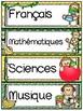 Menu du jour - matières - emploi du temps - Schedule Cards