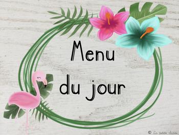 """Menu du jour """"tropical"""""""
