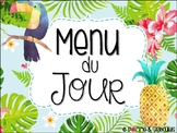 Menu du jour tropical