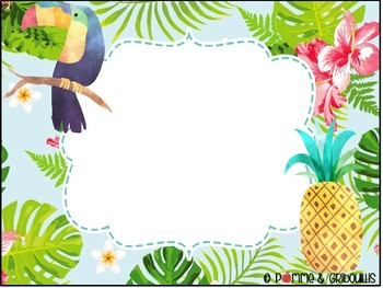 Menu du jour tropical modifiable - Editable tropical classroom menu