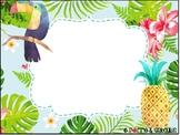 Menu du jour tropical modifiable - Editable tropical class