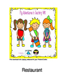 Menu for Restaurant Pretend Play/Housekeeping