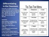 Menus for differentiation