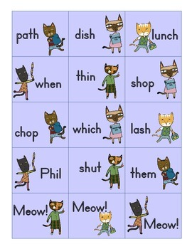 Meow: A digraphs word reading game