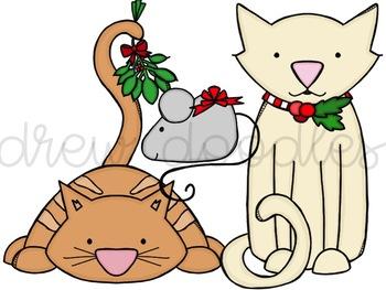Meow-y Christmas Digital Clip Art Set