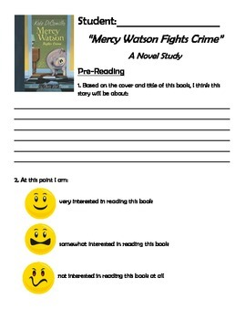 Mercy Watson Fights Crime Novel Study - Primary or Special Education