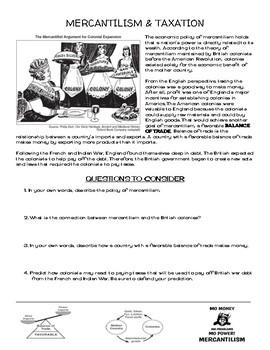Mercantilism Worksheets | Teachers Pay Teachers