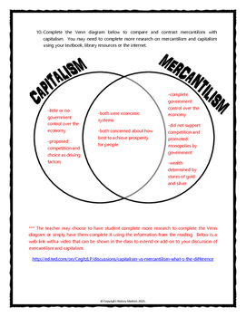 mercantilism during the age of exploration reading questions venn diagram. Black Bedroom Furniture Sets. Home Design Ideas