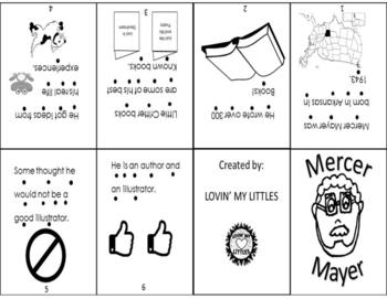 Mercer Mayer Bio mini book for author study