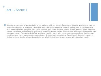 Merchant of Venice - Powerpoint with Questions and Scene Summaries