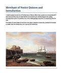 Merchant of Venice Quizzes and Introduction