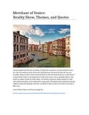 Merchant of Venice: Reality Show, Themes, and Quotes