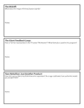 """Merchants of Cool"" guided worksheet"