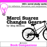 Merci Suarez Changes Gears Discussion Cards, Writing Prompts for Novel Study