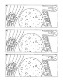 Mercury Bookmark Solar System PDF Coloring Page Printable