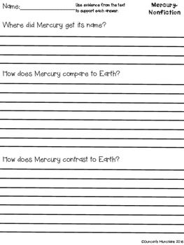 Mercury Paired Passages with Text Based Evidence Questions