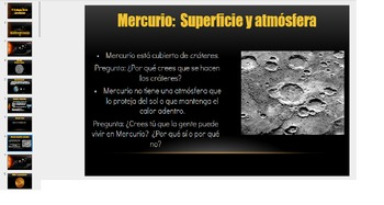Planet PowerPoint: Mercury English and Spanish