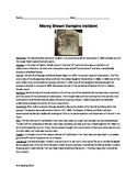 Mercy Brown Vampire Incident - Haunted Rhode Island - Review Article Questions