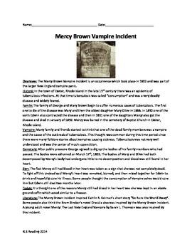 Mercy Brown Vampire Incident - Haunted Rhode Island - Revi