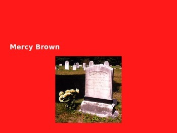 Mercy Brown Vampire Incident - Power Point - History Facts Information