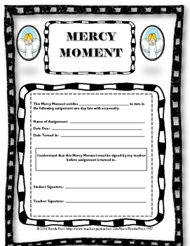 Mercy Moment Student Pass