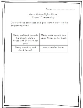 Mercy Watson Fights Crime Literature Study Packet