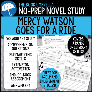 Mercy Watson Goes for a Ride Novel Study