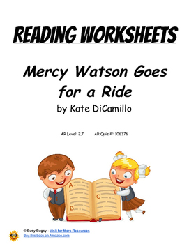 Mercy Watson Goes for a Ride by Kate DiCamillo   Reading W
