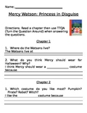 Mercy Watson: Princess in Disguise, Comprehension Questions
