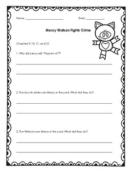 Mercy Watson Question Set