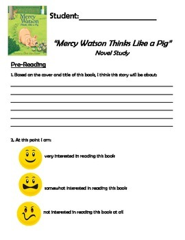 Mercy Watson Thinks Like a Pig - Novel Study - Primary - Special Education