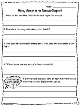 Mercy Watson to the Rescue - Book Study Guide