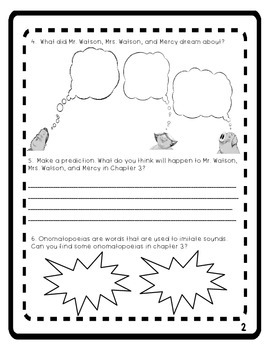 Mercy Watson to the Rescue Comprehension Packet