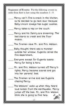 Mercy Watson to the Rescue (Kate DiCamillo) Novel Study / Comprehension (22 pgs)