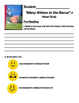 Mercy Watson to the Rescue Novel Study